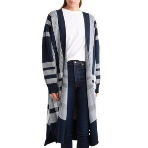 Mother of Pearl Etna Cotton Cardigan OS Blue Plaid